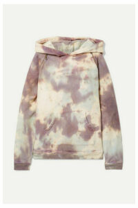 TRE by Natalie Ratabesi - The Brigitte Embellished Tie-dyed Cotton-terry Hoodie - Lilac