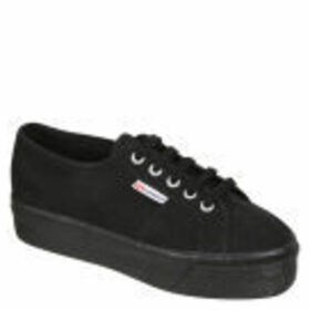Superga Women's 2790 ACOTW Linea Up and Down Flatform Trainers - Full Black - UK 8 - Black