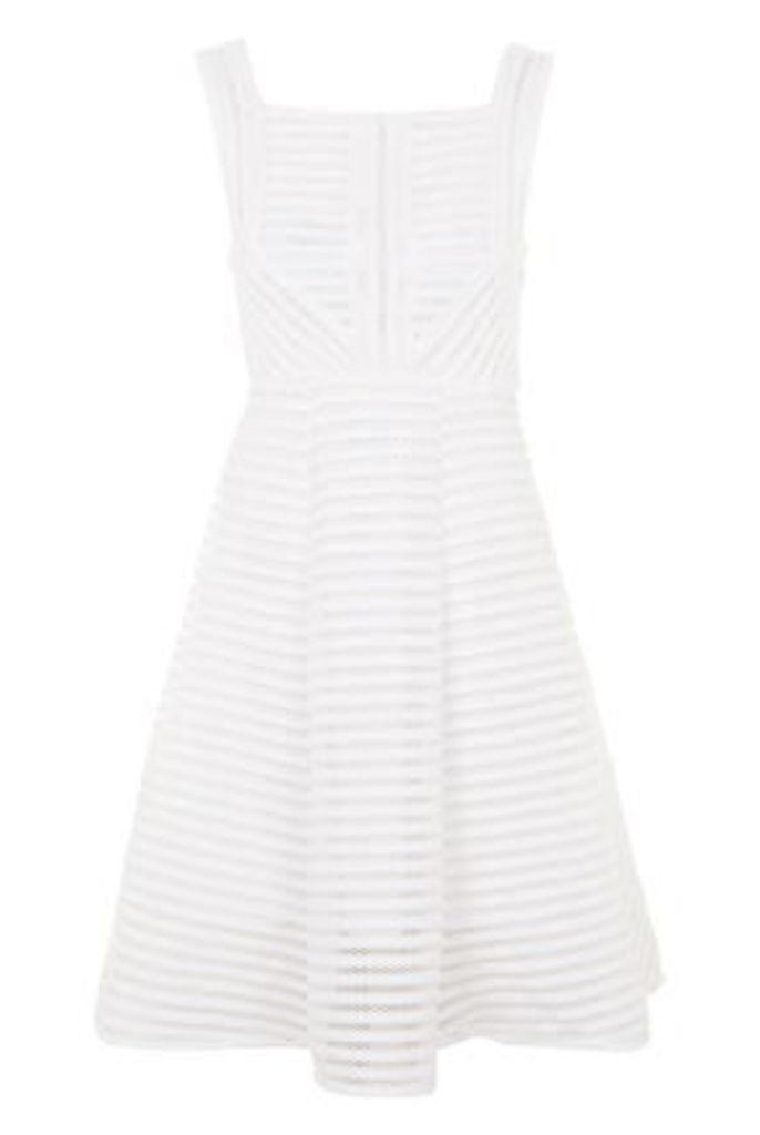Womens **Textured Skater Dress by TFNC - White, White