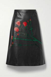 Prada - 65 Bow-embellished Satin Slingback Pumps - Black