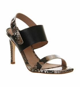 Poste Mistress Dahila High Heel Sandal SNAKE PRINT LEATHER