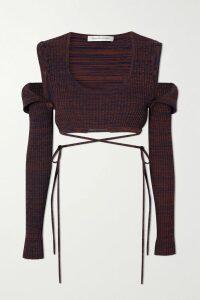 Current/Elliott - The Weslan Lace-up Cotton-blend Twill Slim-leg Pants - Army green
