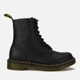 Dr. Martens Women's 1460 Pascal Virginia Leather 8-Eye Boots - Black - UK 7 - Black