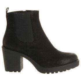 Vagabond Grace heeled leather chelsea boot, Women's, Size: 04/01/1900, Black nubuck
