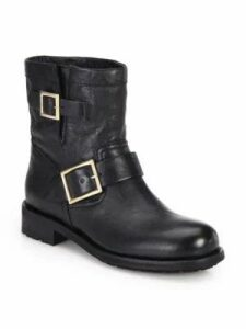 Youth Leather Biker Boots
