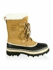 Caribou Leather & Faux Fur Lace-Up Boots