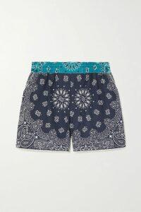 SAINT LAURENT - Pussy-bow Printed Wool-gauze Blouse - Black