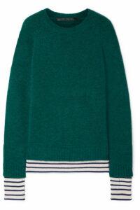 Haider Ackermann - Striped Wool-blend Sweater - Emerald