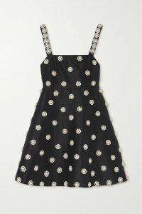 Miu Miu - Bow-embellished Mohair And Wool-blend Blazer - Black