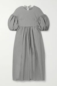 Ninety Percent - Striped Stretch-tencel Turtleneck Top - White