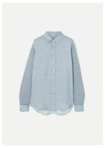 Burberry - Printed Mulberry Silk-twill Shirt - Blue