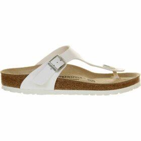 Birkenstock Women's White Ramses Faux-Leather Sandals, Size: 6