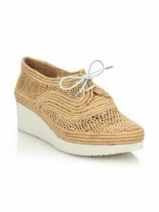 Vicole Raffia Wedge Sneakers