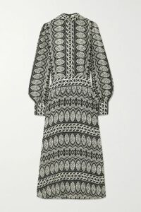 Max Mara - Button-embellished Striped Silk Top - Navy