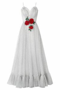 Rodarte - Embellished Flocked Tulle Gown - White