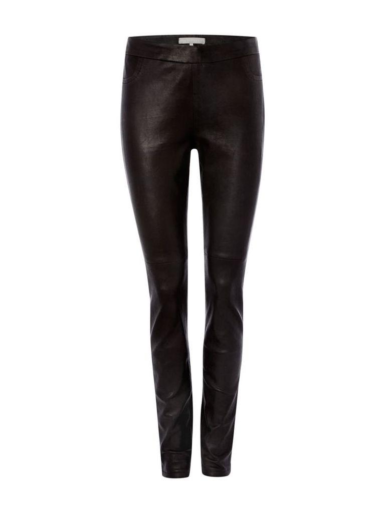 Gray & Willow Klara leather stretch leggings, Black