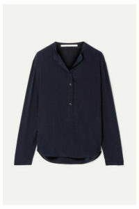 Stella McCartney - Eva Silk Crepe De Chine Blouse - Midnight blue