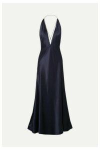Michael Lo Sordo - Alexandra Silk-satin Gown - Navy