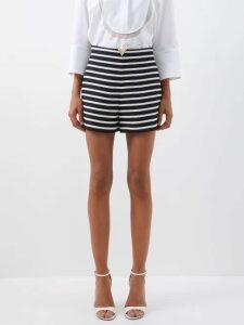 Marina Moscone - Cape-back Silk-blend Midi Dress - Womens - Black
