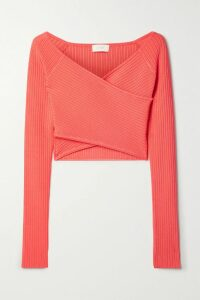 Faithfull The Brand - Lucy Ruffled Floral-print Crepe Wrap Top - Royal blue