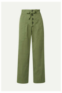 SEA - Tula Cotton-blend Twill Pants - Army green