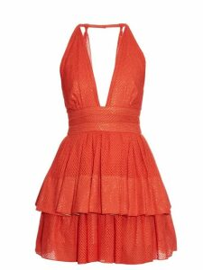 Sophie Theallet - Anais Plunging-neckline Dress - Womens - Red