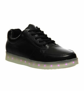 Irregular Choice State Of Flux Sneaker BLACK LEATHER PINK LIGHT