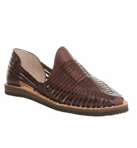 Chamula Cancun Closed Toe Sandal DARK BROWN LEATHER