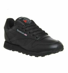 Reebok Classic Leather (w) BLACK LEATHER