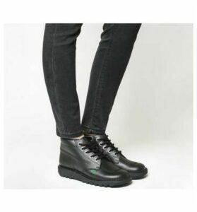 Kickers Kick Hi (g) BLACK BLACK LEATHER