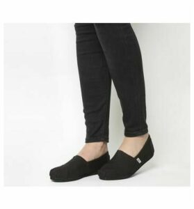 Toms Classic Slip On BLACK MONO