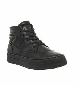 Oki Kutsu Ichi Hi Top Sneaker BLACK MONO LEATHER