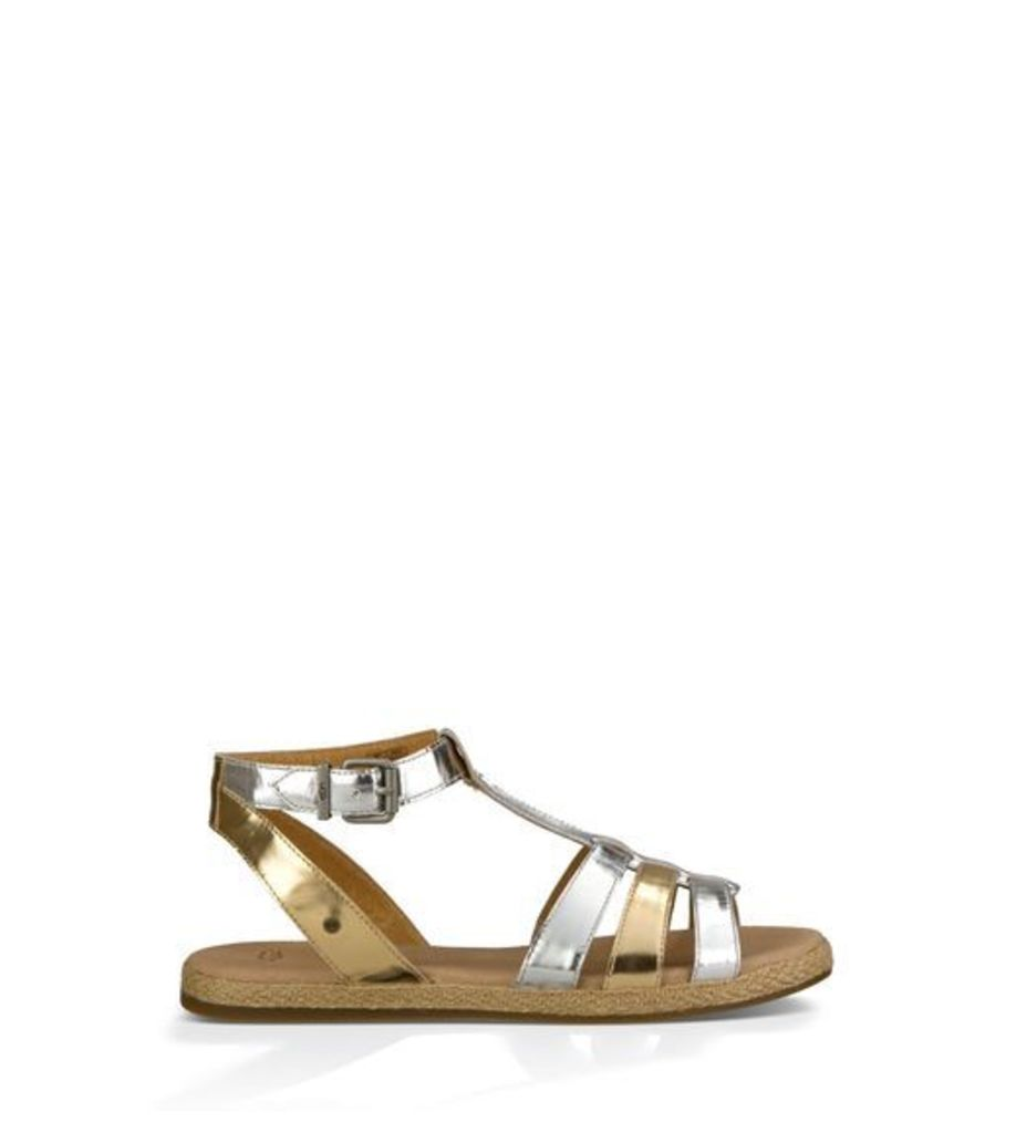 UGG Lanette Womens Sandals Sterling/ Soft Gold 3