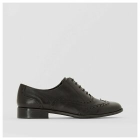 Wide-Fit Leather Brogues