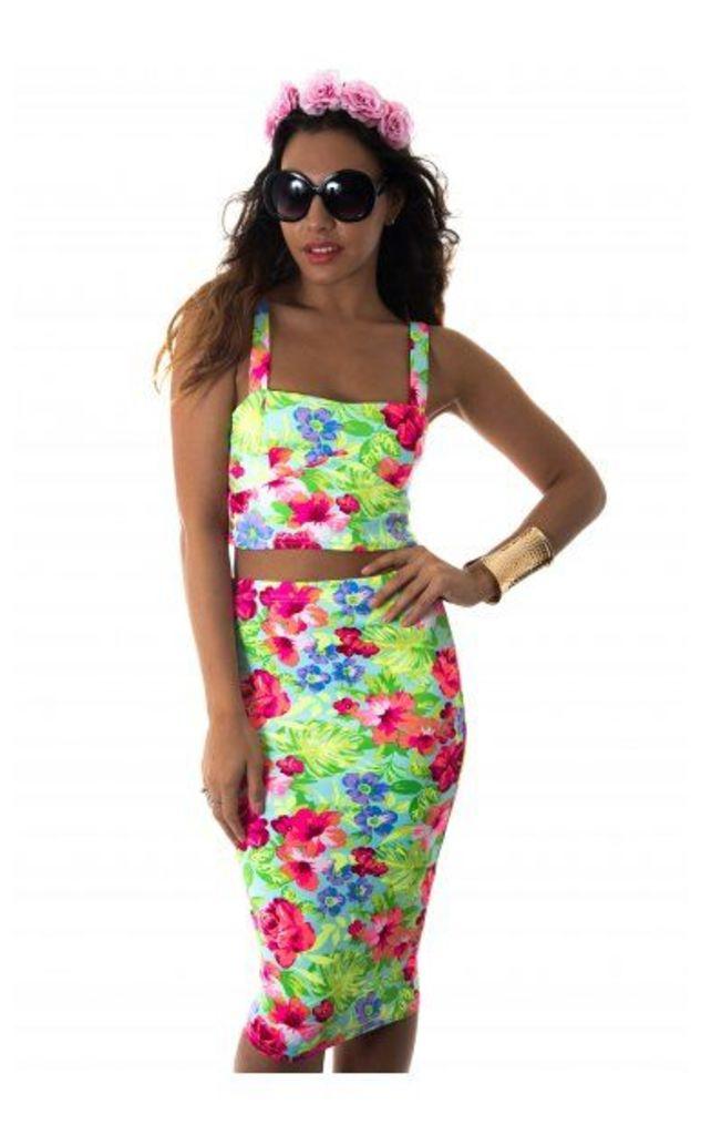 Talia 2 Piece Skirt & Bralet Set