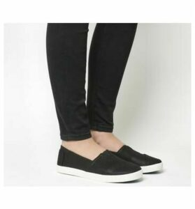 Toms Avalon Sneaker BLACK COATED CANVAS