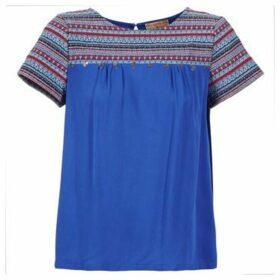 Moony Mood  EILEEN  women's Blouse in Blue