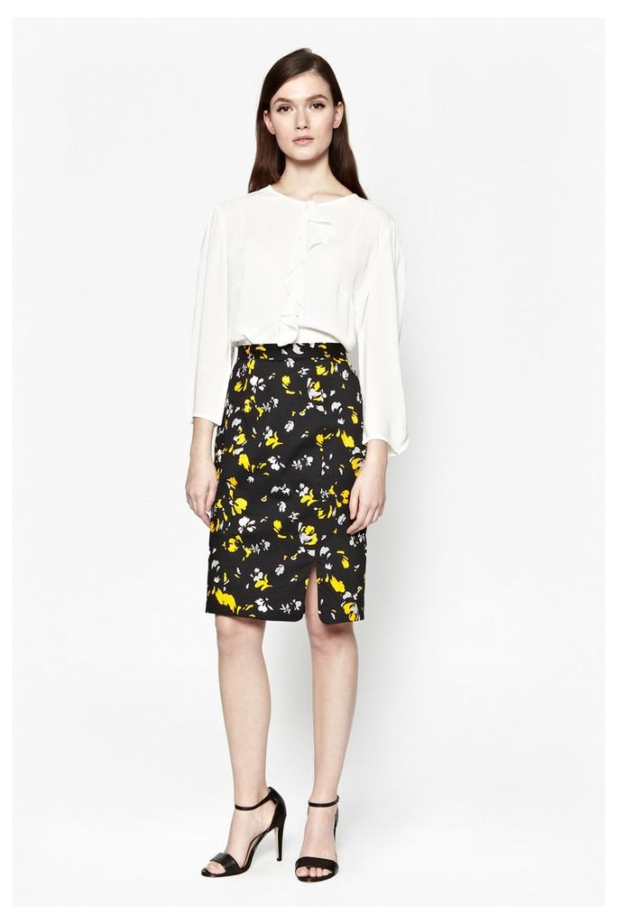 Spring Blossom Pencil Skirt