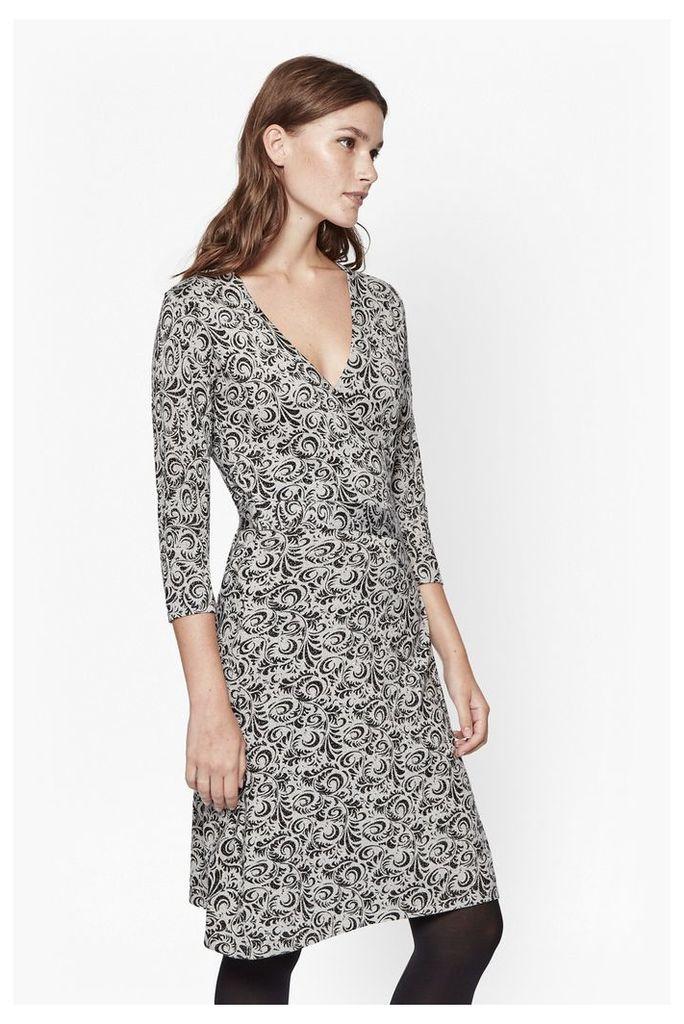 Baroque Rock Wrap Dress