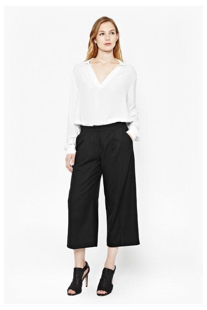 Elly Wool Flannel Culottes