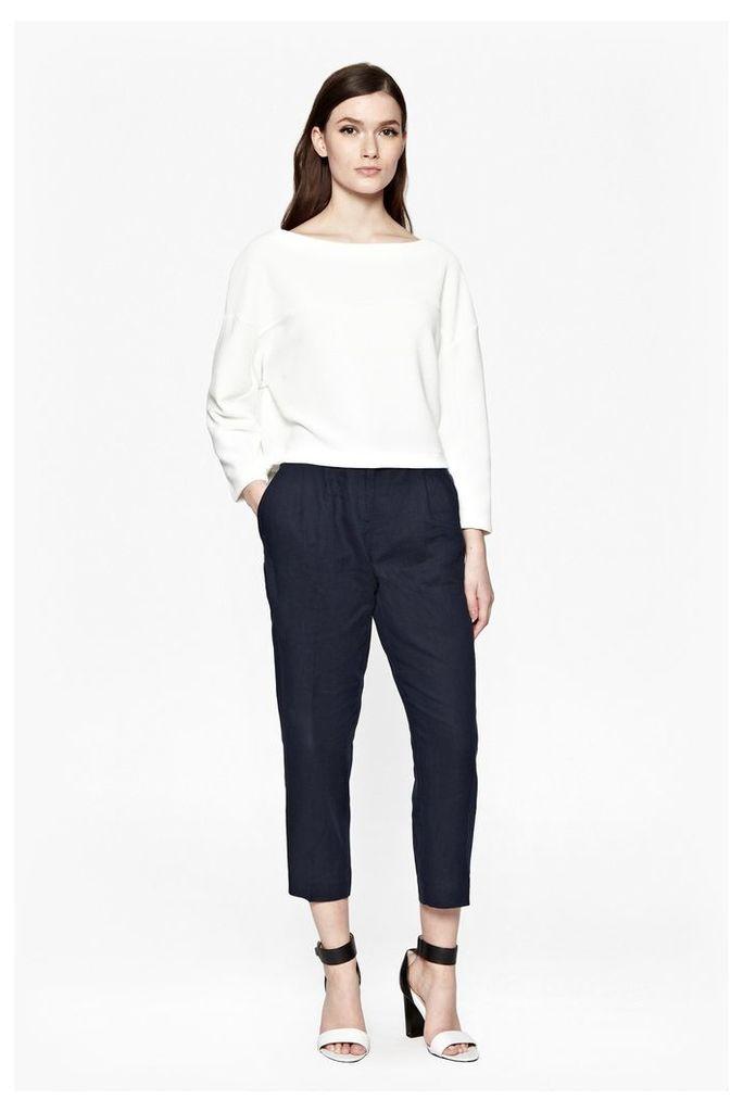 Norfolk Linen Straight Leg Trousers