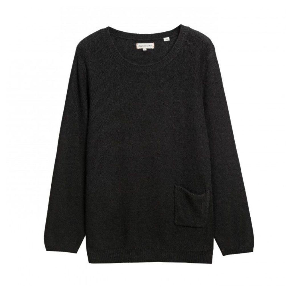Slouchy Reverse Knit Sweater
