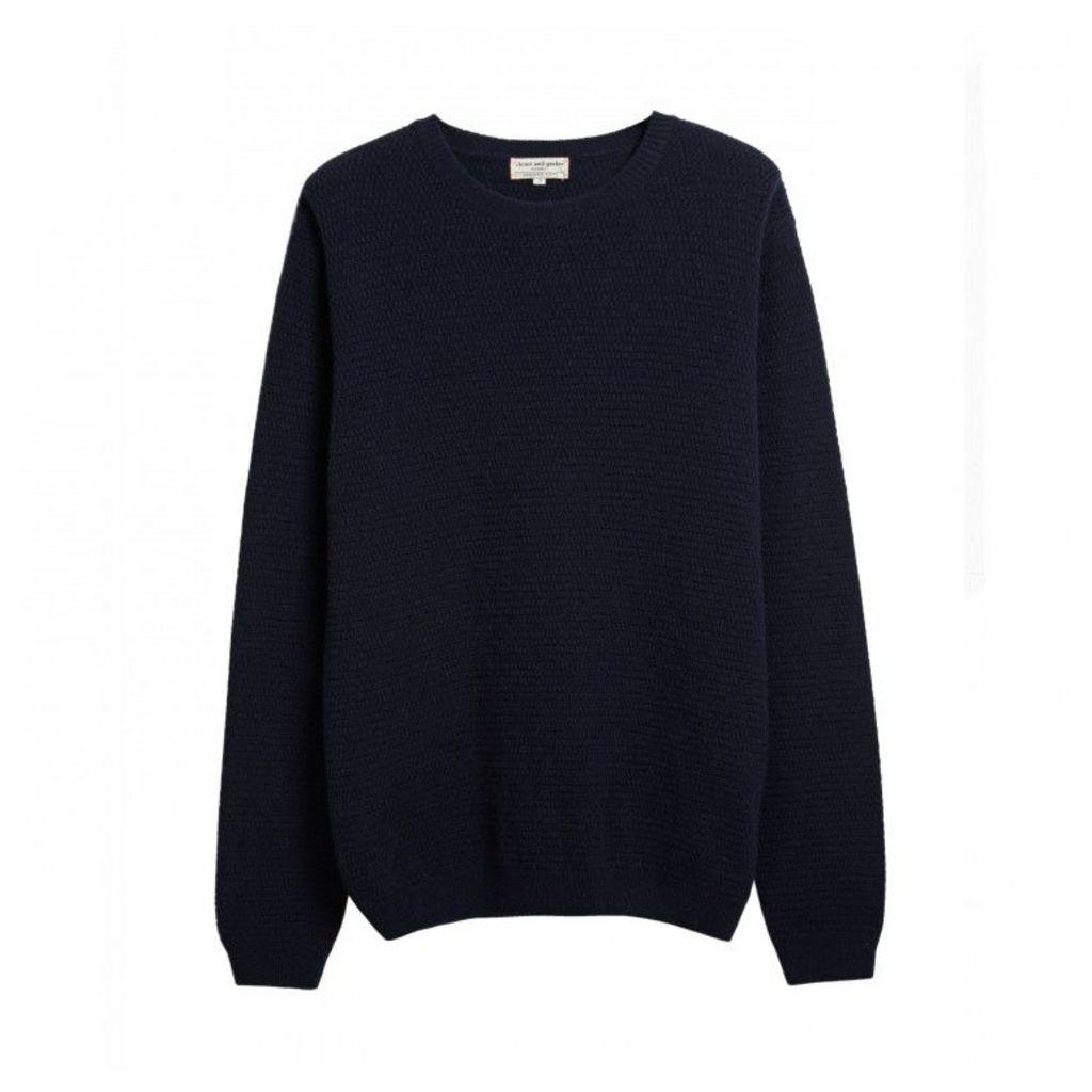 Men's Basket Weave Sweater