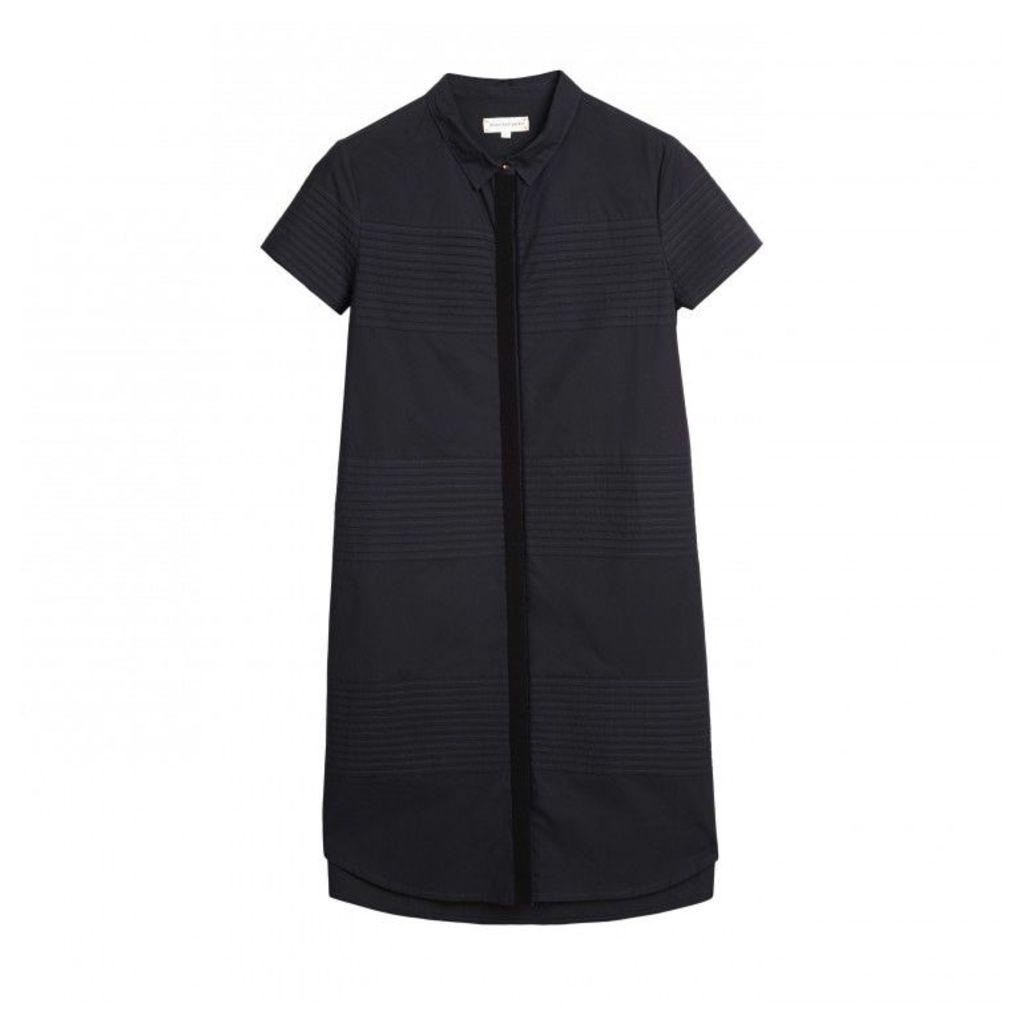 Pintuck Straight Dress