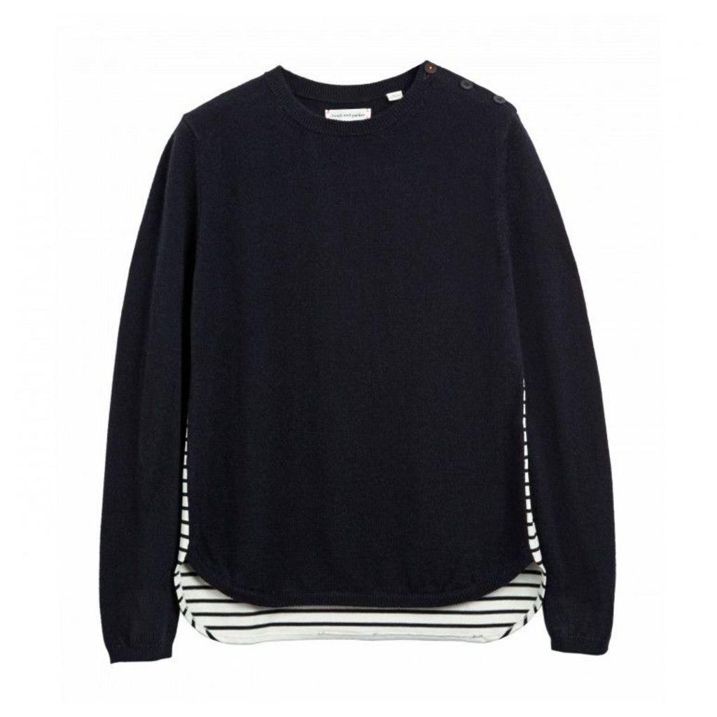 Breton Shirt Hem Sweater