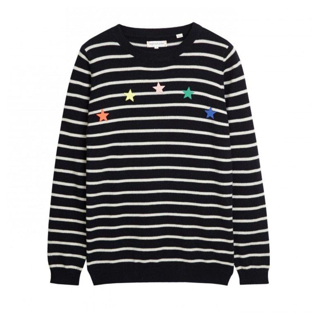 Enameled Star Breton Sweater