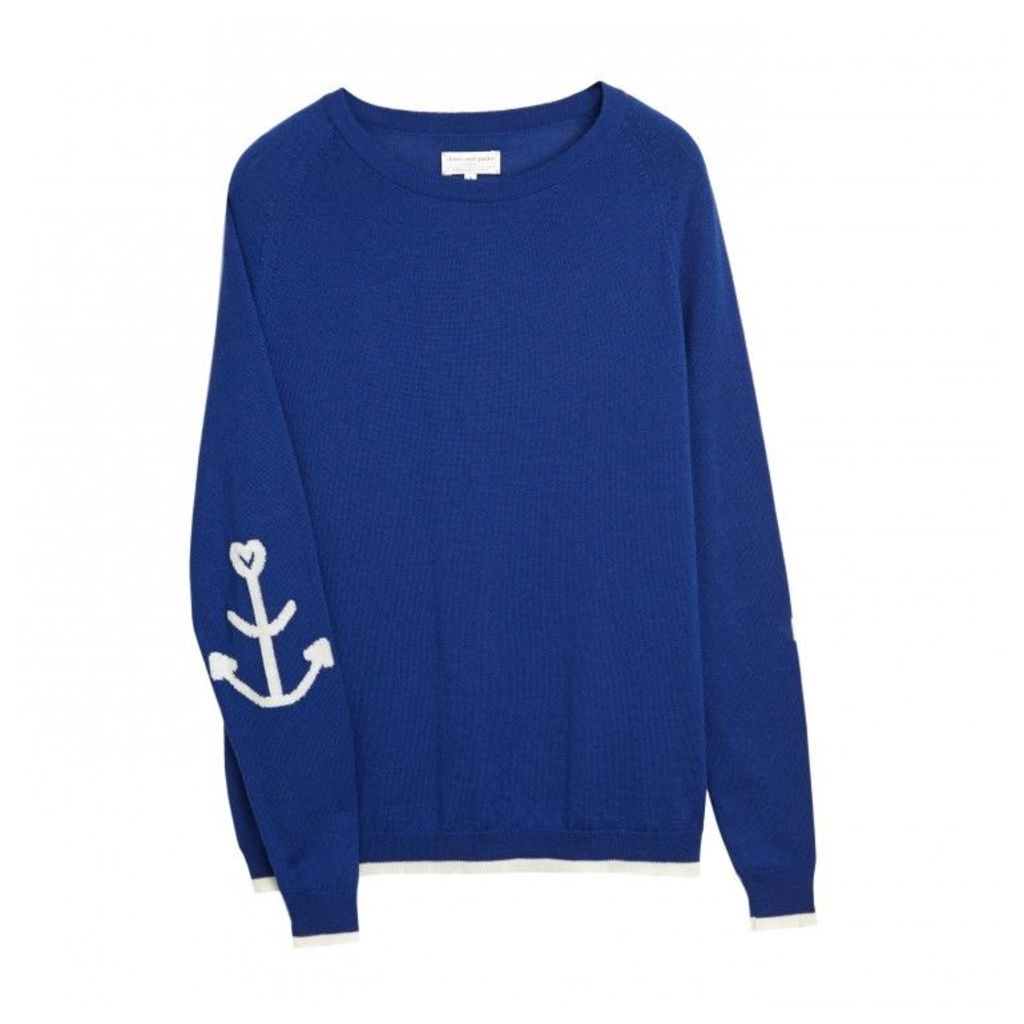 Anchor Elbow Patch Sweater