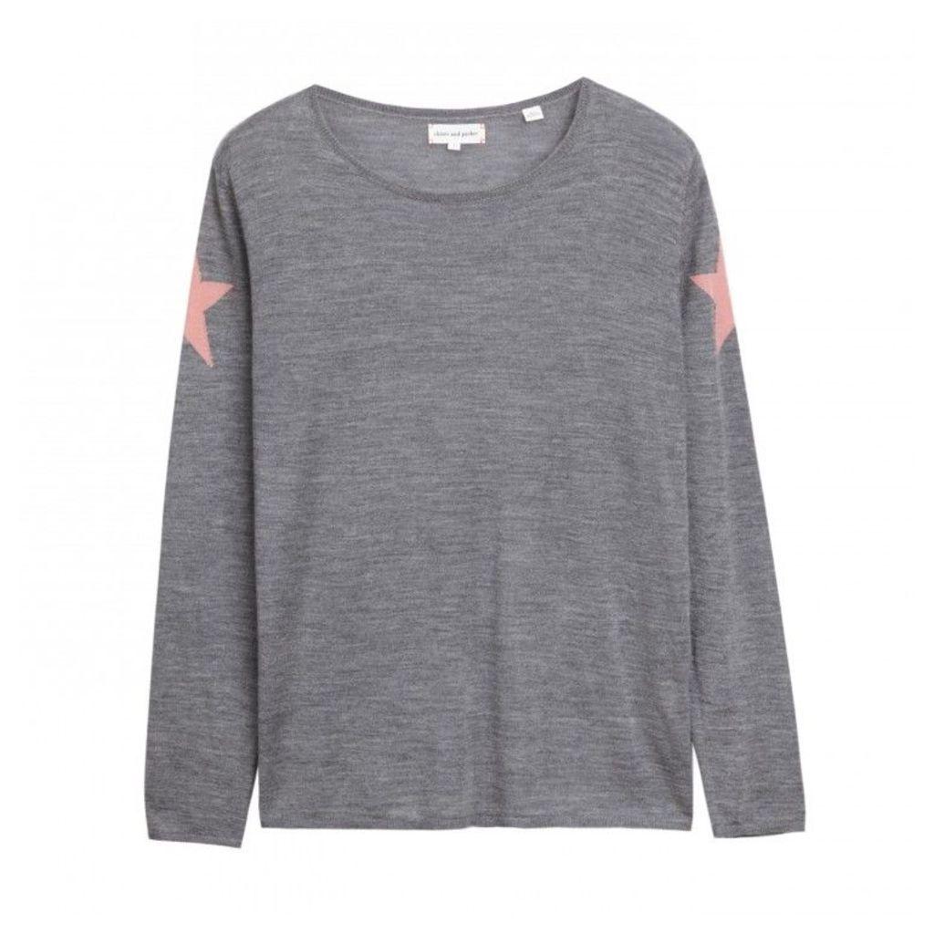 Lightweight Star Shoulder Sweater