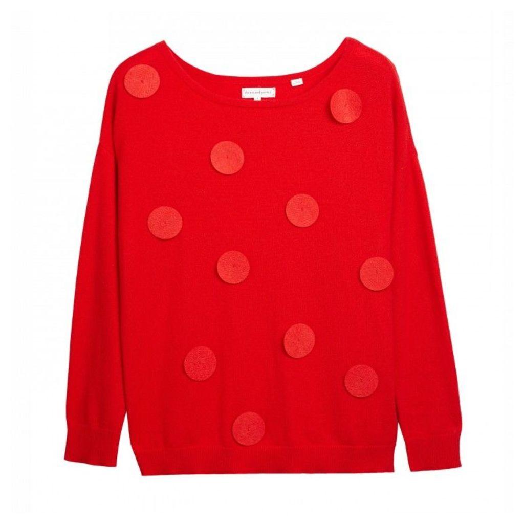 Felt Polka Sweater
