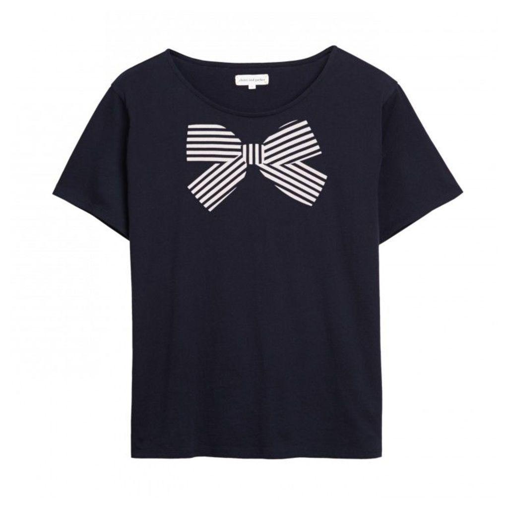 Stripe Bow Print T